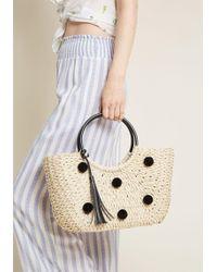 ModCloth - Spark Spontaneity Straw Bag - Lyst