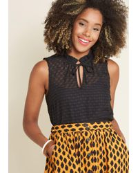 ModCloth - Stylish Vision Tie-neck Top - Lyst
