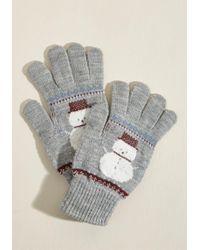 ModCloth - Frosty Fun Gloves - Lyst