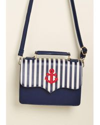 Banned - Namely Nautical Crossbody Bag By From Modcloth - Lyst