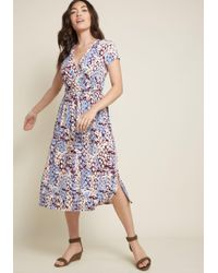 28f34302f0 Lyst Gilli Everywhere You Flow Jersey Dress In Navy Blue. Modcloth ...
