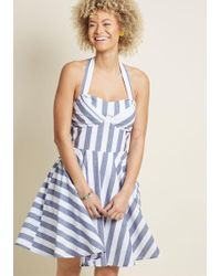 ModCloth - Travelling Cake Pop Truck Dress In Stripes - Lyst