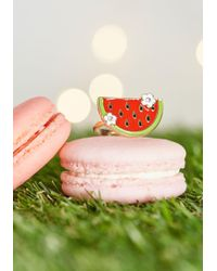 Irregular Choice - Slice Of Sweetness Adjustable Ring By From Modcloth - Lyst