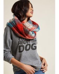 ModCloth | Cosy And Colorful Circle Scarf | Lyst