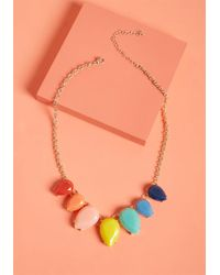 ModCloth - Rainbow In Tow Statement Necklace - Lyst