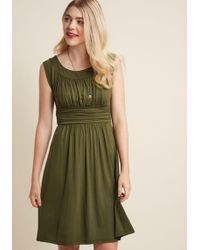 ModCloth | I Love Your Jersey Dress In Olive | Lyst