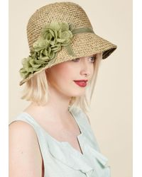ModCloth - Pure Edith Hat In Green - Lyst