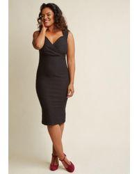 ModCloth | Lady Love Song Sheath Dress In Black | Lyst