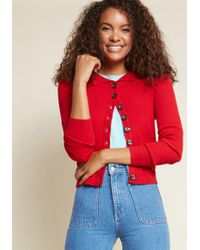 Banned - Seen Sweater Days Collared Cardigan - Lyst