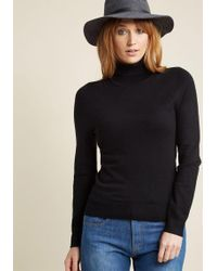 ModCloth - Charter School Turtleneck Sweater - Lyst