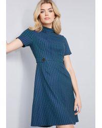 ModCloth - Nostalgic Renewal Short Sleeve Dress - Lyst