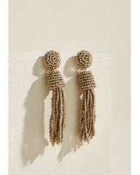 ModCloth - Classy Tassels Earrings In Gold - Lyst