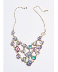 ModCloth - Loving The Limelight Statement Necklace - Lyst