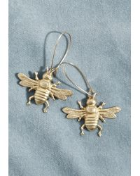 ModCloth - Beneficial Bees Brass Earrings - Lyst