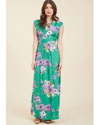ModCloth - Feeling Serene Maxi Dress In Spearmint - Lyst