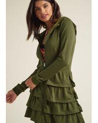 ModCloth - Tier Me Roar Jacket In Olive - Lyst