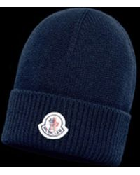 89cff5e6386 Moncler Logo Cotton   Wool Cap in Gray for Men - Lyst