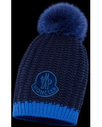 Lyst - Moncler Hat For Women in Blue 0485acccad9