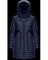 582889f22 Moncler Barbel Hooded Down-fill Knee-length Jacket in Green - Lyst
