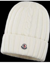 e726e48c4b9 Lyst - Moncler Ribbed Beanie in Gray