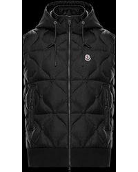 d13f9afba Moncler Puffer Ghany Vest in Black for Men - Lyst