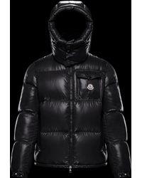 392c5bc1d Moncler Logo Patch Puffer Jacket in Black for Men - Lyst