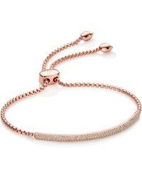 Monica Vinader - Stellar Diamond Mini Bar Bracelet - Lyst