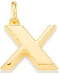 Monica Vinader - Alphabet Pendant X - Lyst