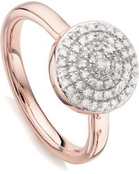 Monica Vinader | Fiji Large Button Stacking Ring | Lyst