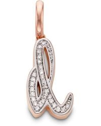 Monica Vinader - Diamond Alphabet Pendant D - Lyst