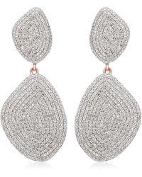 Monica Vinader - Nura Double Teardrop Cocktail Earrings - Lyst