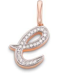 Monica Vinader - Alphabet E Diamond Pendant Charm - Lyst