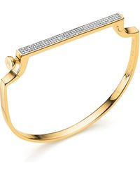 Monica Vinader - Signature Petite Bangle - Lyst