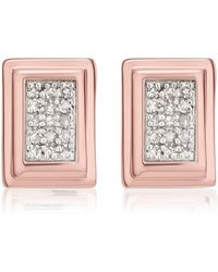 Monica Vinader - Baja Deco Stud Diamond Earrings - Lyst