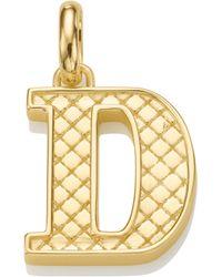 Monica Vinader - Alphabet D Pendant Charm - Lyst