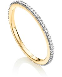 Monica Vinader - Skinny Eternity Diamond Ring - Lyst