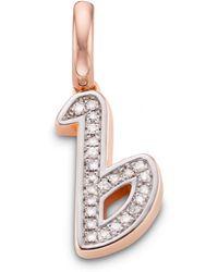 Monica Vinader - Diamond Alphabet Pendant B - Lyst