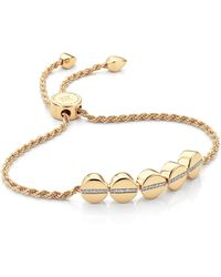 Monica Vinader - Linear Bead Diamond Row Friendship Chain Bracelet - Lyst