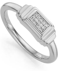 Monica Vinader - Baja Deco Diamond Ring - Lyst