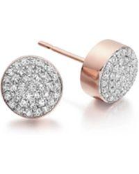 Monica Vinader - Ava Button Stud Earrings - Lyst
