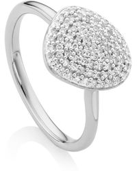Monica Vinader - Nura Diamond Pebble Stacking Ring - Lyst