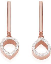 Monica Vinader - Naida Mini Lotus Open Drop Earrings - Lyst
