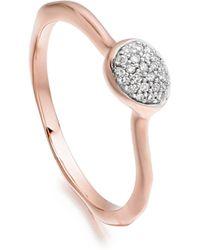 Monica Vinader | Siren Diamond Small Stacking Ring | Lyst