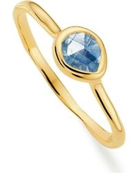 Monica Vinader - Siren Small Stacking Ring - Lyst