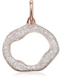 Monica Vinader - Riva Diamond Circle Pendant - Lyst