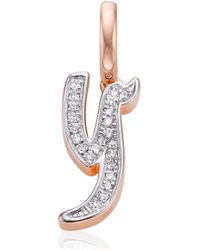 Monica Vinader - Diamond Alphabet Pendant Y - Lyst