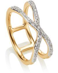 Monica Vinader   Riva Diamond Ring   Lyst