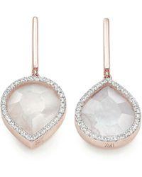 Monica Vinader - Naida Lotus Drop Earrings - Lyst