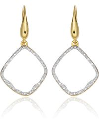 Monica Vinader - Riva Diamond Hoop Earrings - Lyst