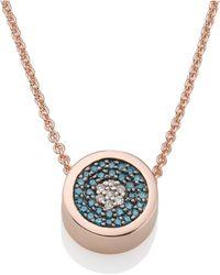 Monica Vinader - Evil Eye Necklace - Lyst